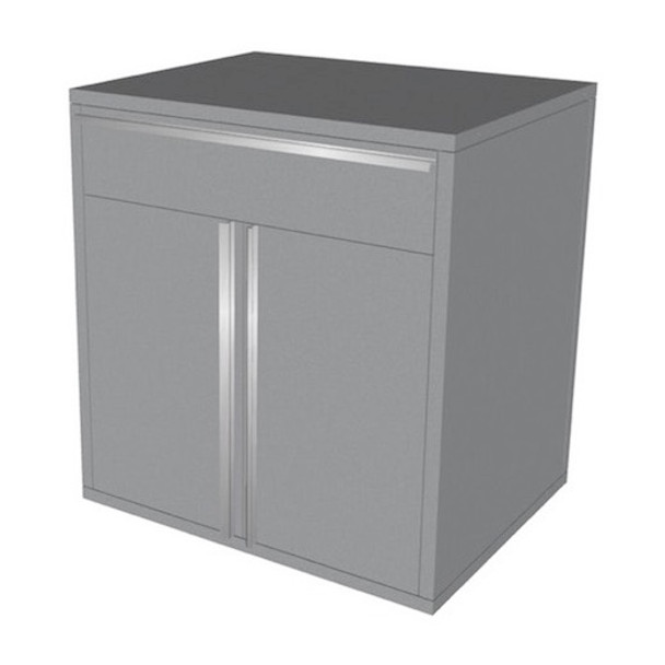 Base 2 Door - 1 Drawer (Silver)