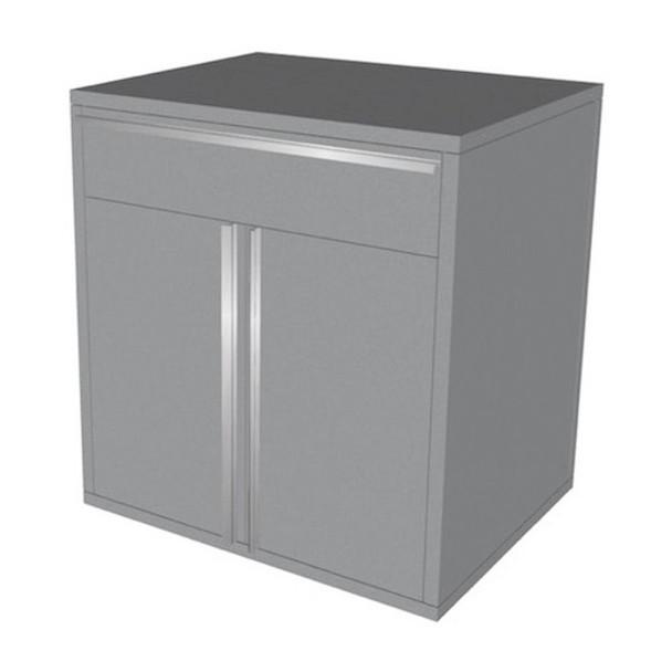 Saber silver 1 drawer base cabinet