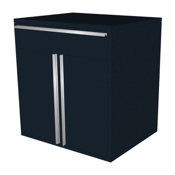 Saber black 1 drawer base cabinet