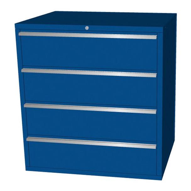Saber blue 4 drawer base cabinet