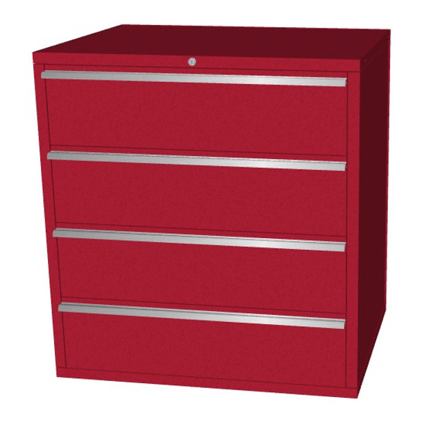 Saber red 4 drawer base cabinet
