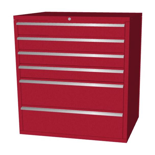 Saber red 6 drawer base cabinet
