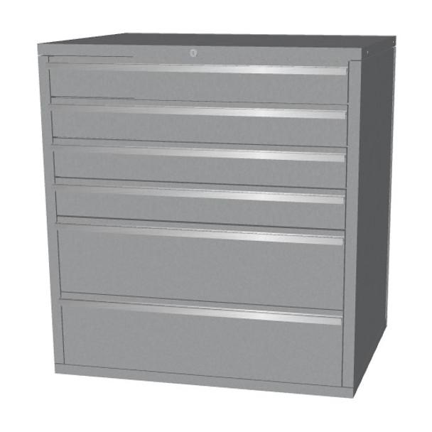 Base 6 Drawer (Silver)