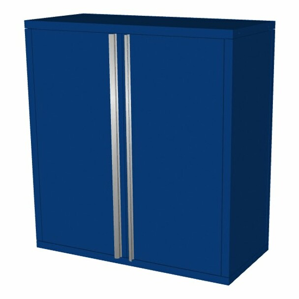Saber blue 2 door upper wall cabinet