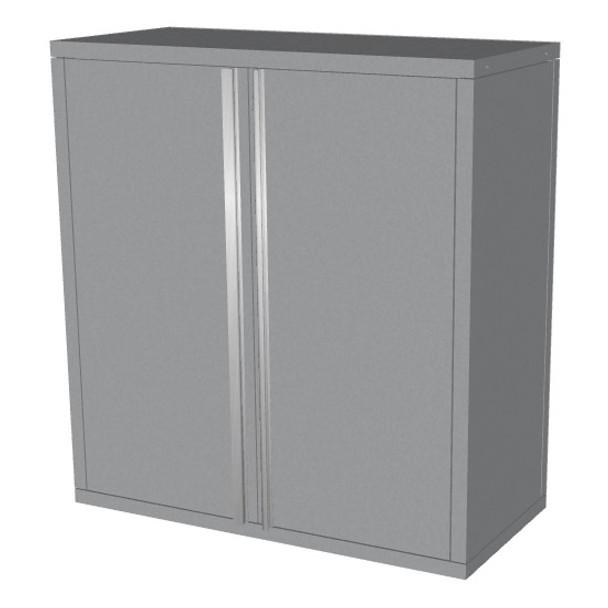 Saber silver 2 door upper wall cabinet