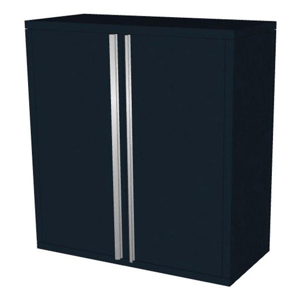 Saber black 2 door upper wall cabinet