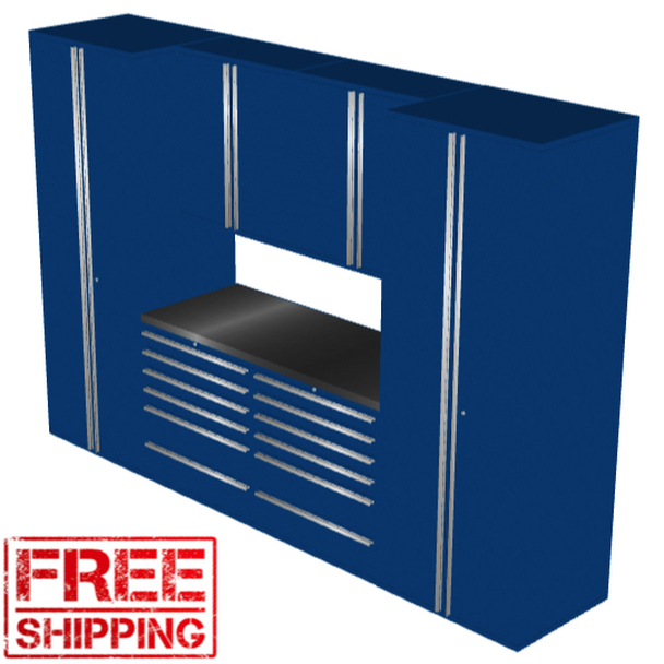 Saber 7-Piece Blue Garage Cabinet Set (7001)