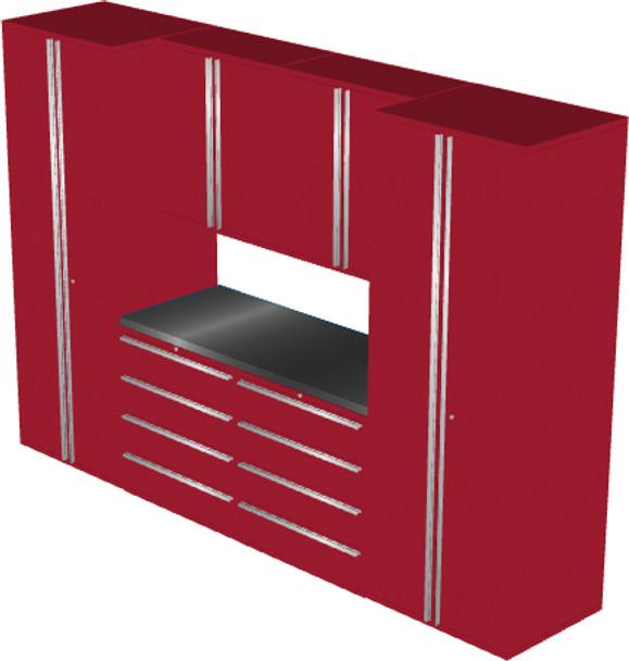 Saber 7-Piece Red Garage Cabinet Set (7004)