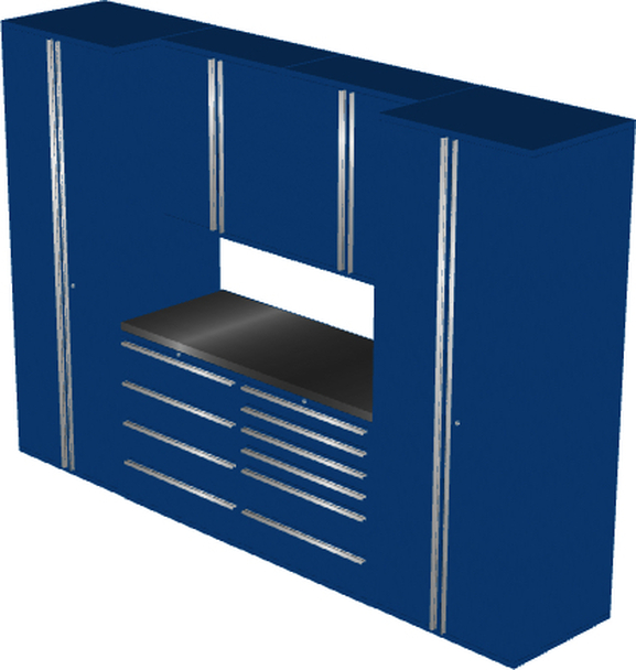 Saber 7-Piece Blue Garage Cabinet Set (7005)