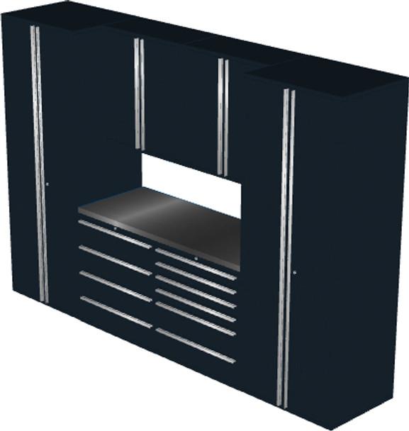 Saber 7-Piece Black Garage Cabinet Set (7005)