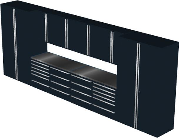 12-Piece Black Garage Cabinet Set (12002)