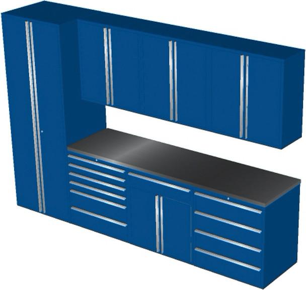 Saber 8-Piece Blue Garage Cabinet Set (8008)