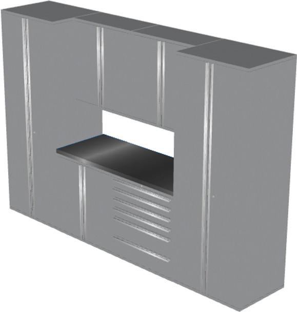 Saber 7-Piece Silver Garage Cabinet Set (7006)