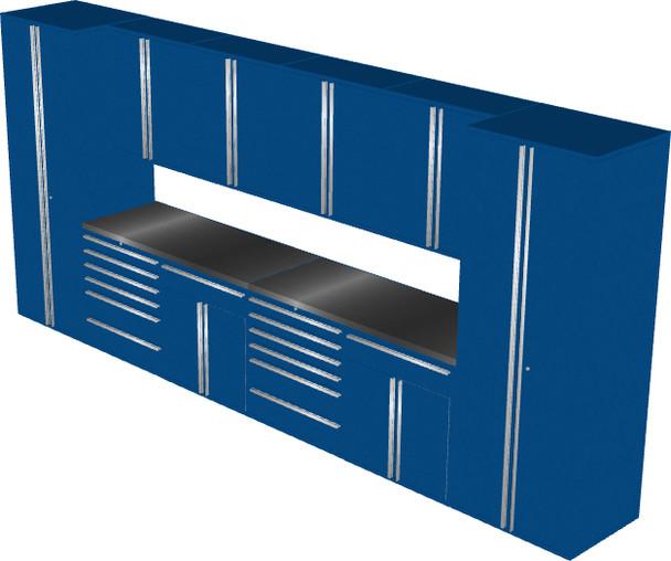 12-Piece Blue Garage Cabinet Set (12005)