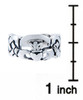 Silver Claddagh Celtic Band for Mens