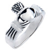 925 Sterling Silver Claddagh Men's Ring Solid