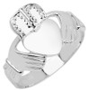 Silver Claddagh Men's Ring  [RGN1004SV]