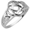 Sterling Silver Trinity Ladies Ring