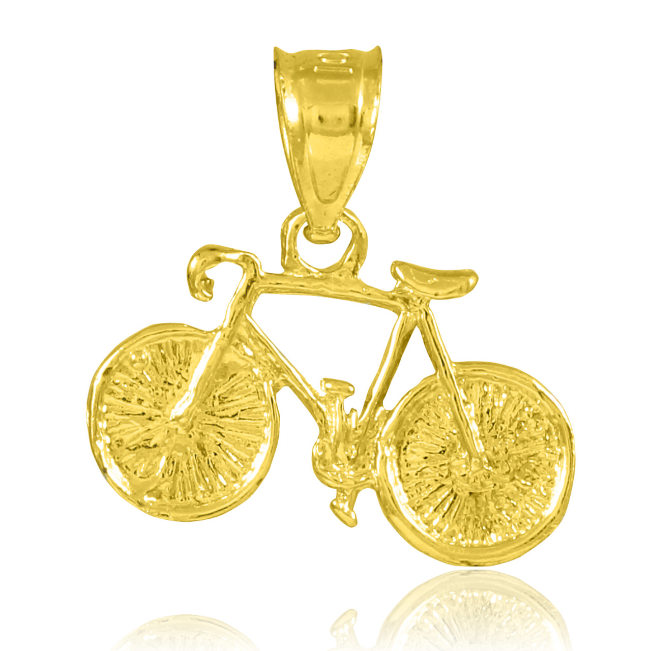 10k Yellow Gold Putter Golfer Sports Charm Pendant Necklace 22