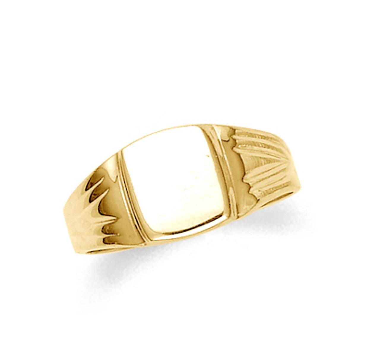 Signet Gold Mens Ring | Mens Gold Signet Ring | Gold Signet Mens Ring | Gold  Signet Rings