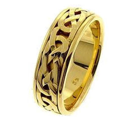 Gold Celtic Wedding Band
