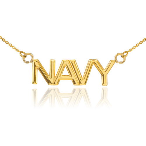 14K Gold NAVY Necklace