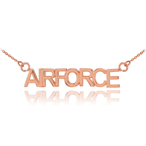 14K Rose Gold AIRFORCE Necklace