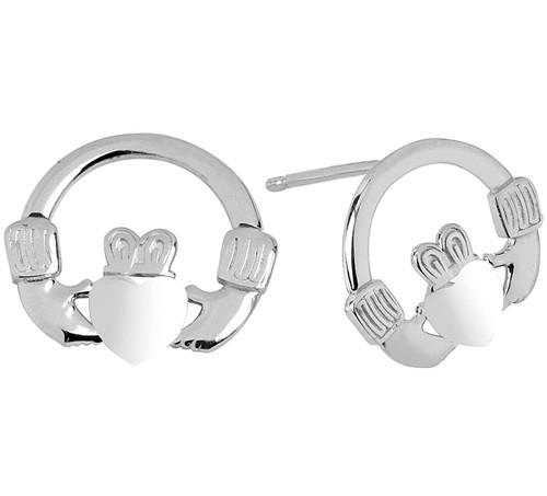 925 Sterling Silver Bold Claddaagh Earring