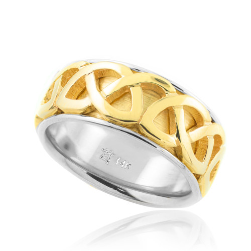 Gold Celtic Knot Weave Wedding Band