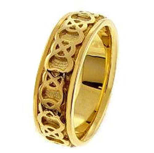 14k Gold Celtic Endless Knot Wedding Band