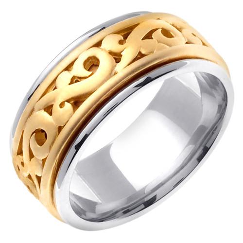 14k Two-Tone Gold Celtic Wedding Band