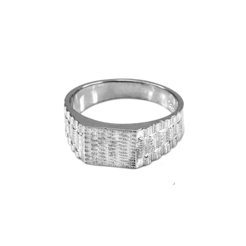 White Gold Watchband Design Baby Ring