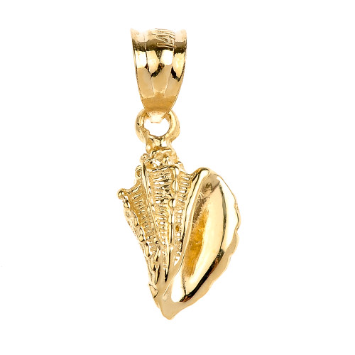 Gold Sea shell Charm Pendant Necklace