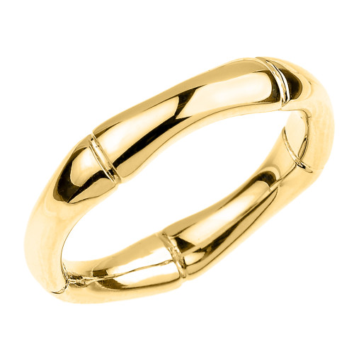 Yellow Gold 4 MM Bamboo Band