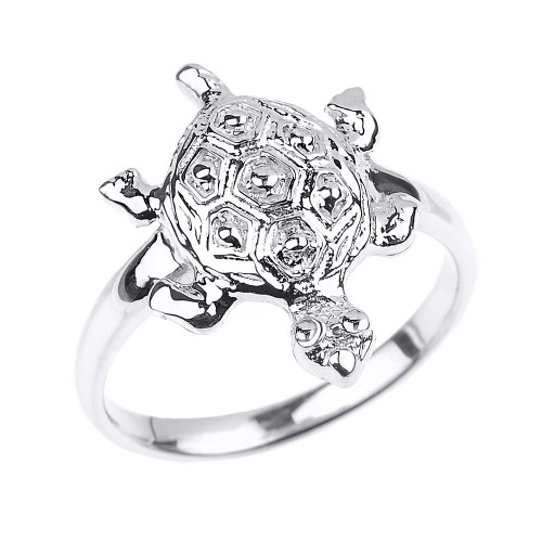 Sterling Silver Turtle Ladies Ring