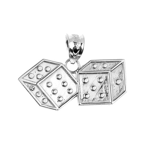 Sterling Silver Dice Pendant