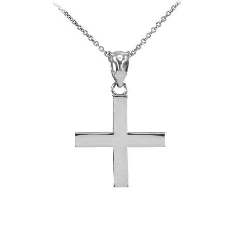 Sterling Silver Greek Cross Charm Necklace
