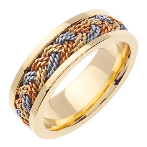 14k Gold Hand Braided Wedding Band