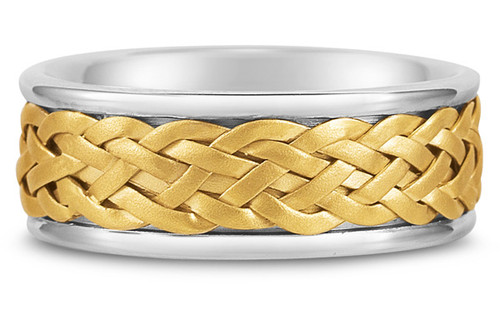 Hand Braided Gold Wedding Band