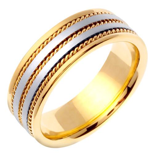 Hand Braided 14k Gold Wedding Band
