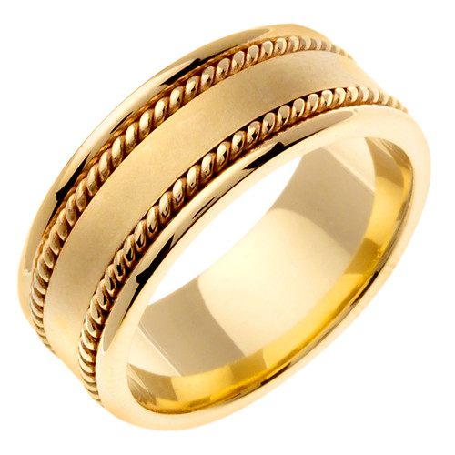 Hand-Braided 14k Gold Wedding Band