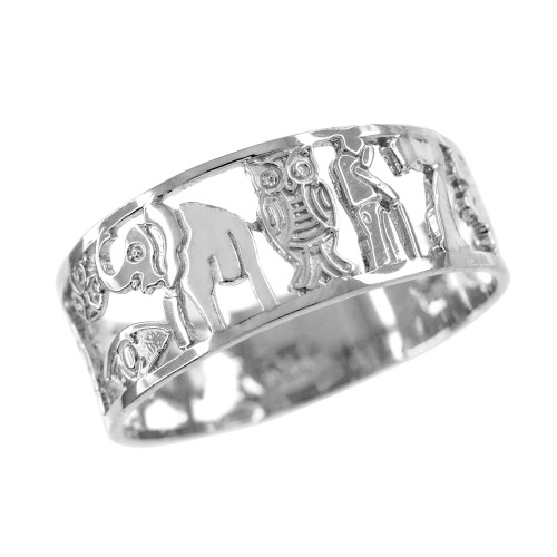 White Gold Lucky 7 Ring