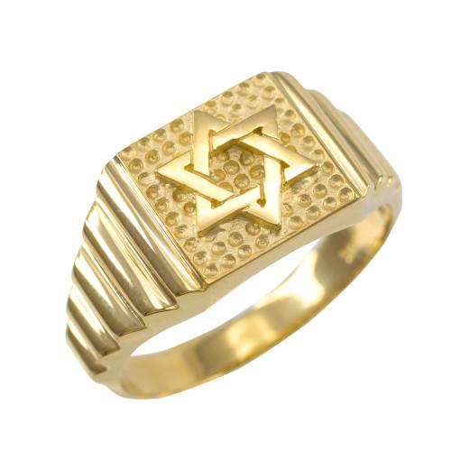 Gold Star of David Jewish Ring