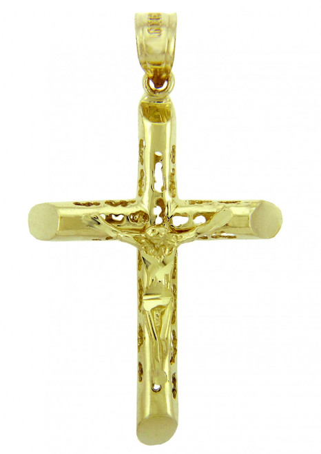 Yellow Gold Crucifix Pendant - The Endless Crucifix