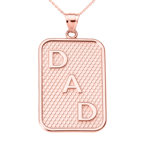 """Rose Gold """"DAD"""" Pendant Necklace"""
