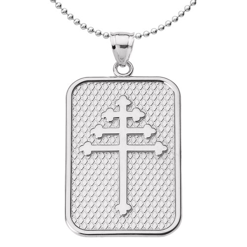 Sterling Silver Maronite Cross Pendant Necklace