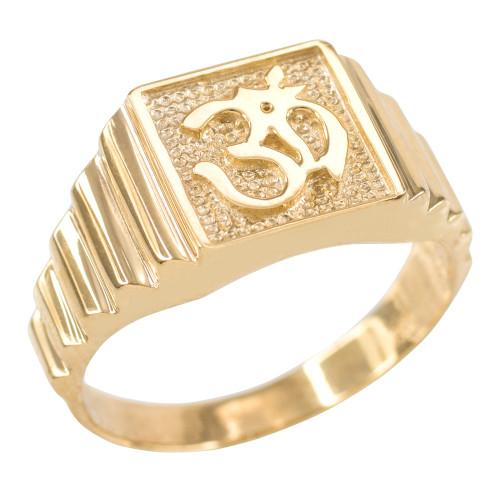 Gold Om Men's Ring