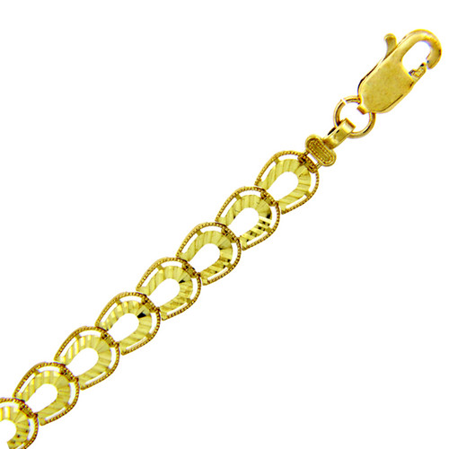 Yellow Gold Bracelet - The Horseshoe Bracelet