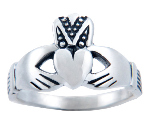 Silver Claddagh Ladies Ring