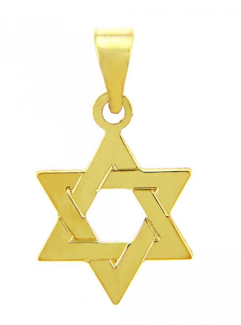 Jewish Charms and Pendants - 14K Yellow Gold Star of David Pendant